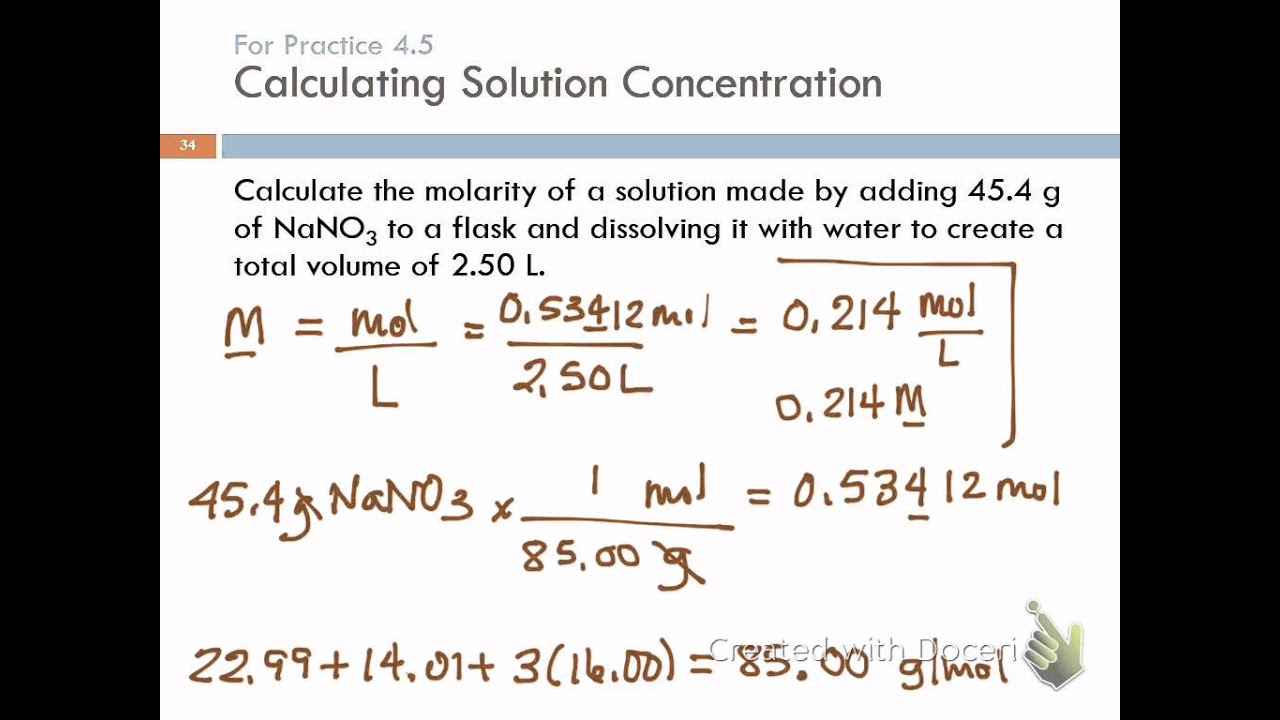 4 4 Solution Concentration Amp Solution Stoichiometry