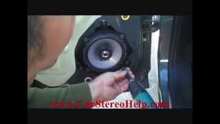 how to chevrolet hhr rear car speaker removal and install 2006 2008 not bose replace