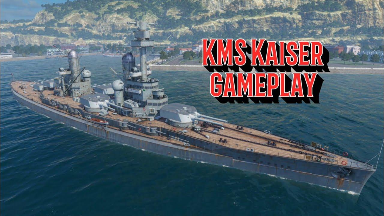 World of Warships Blitz - KMS Kaiser battleship gameplay - YouTube
