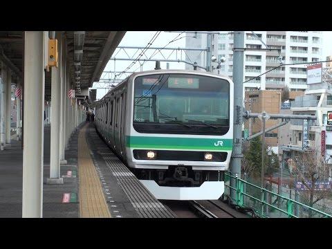 映像集 常磐線三河島駅と列車たち/Jōban Line Trains at Mikawashima/2015.02.25