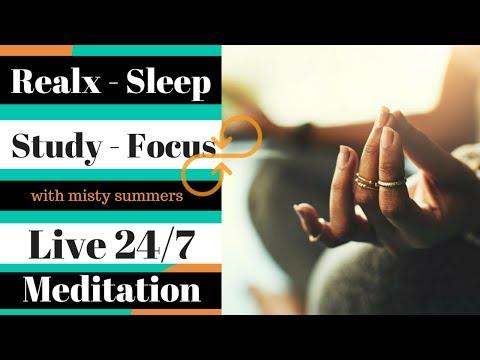 Relaxing Meditation 24/7, Calming, Relaxation, Meditation, Sleep, Study