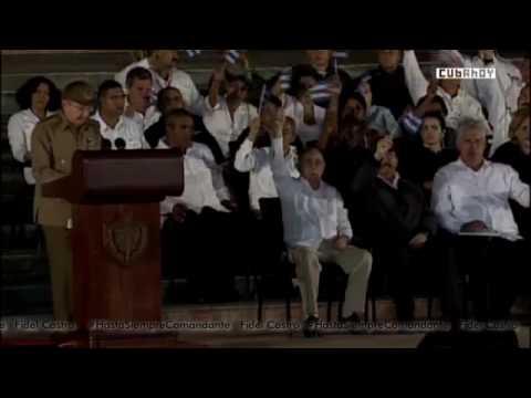 Palabras del General de Ejercito Raúl Castro Ruz en #TributoaFidel Santiago de Cuba