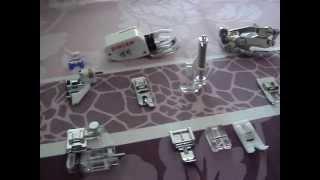les différents pieds de biche d'une machine à coudre