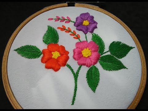 Hand Embroidery - Padded Satin Stitch