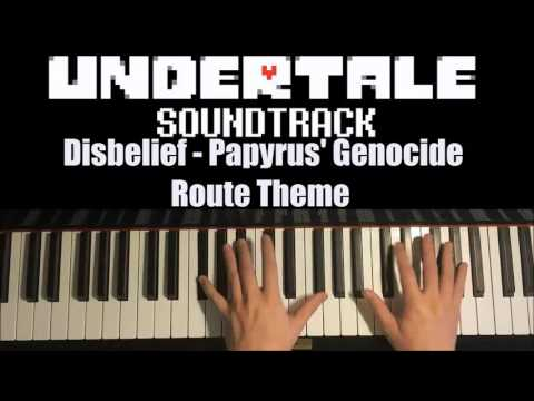 Undertale - Disbelief - Papyrus' Genocide Route Theme [Interstellar Retribution] (Piano Cover)