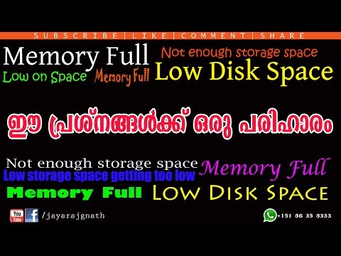 How to fix low disk space  in your Android smartphone