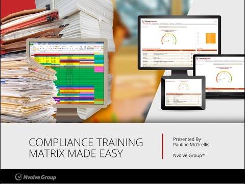 Compliance Training Matrix Made Easy - Webinar