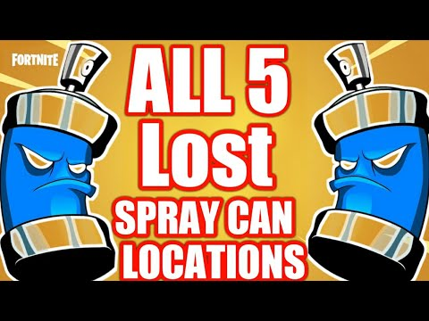 """FORTNITE """"LOST SPRAY CAN LOCATIONS""""( ALL 5 LOCATIONS FOUND ..."""