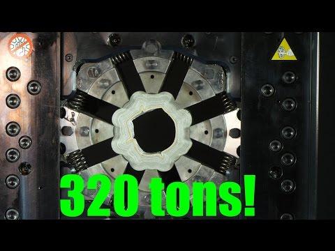 Crushing stuff with 360° Hydraulic press (Crimping  machine)