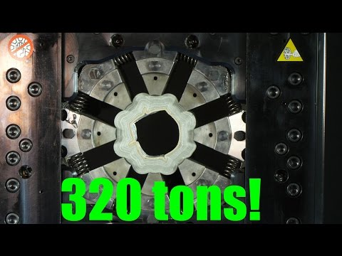 Crushing stuff with 360° Hydraulic press (Crimping  machine)