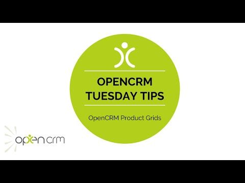 #TuesdayTip - OpenCRM Product Grids