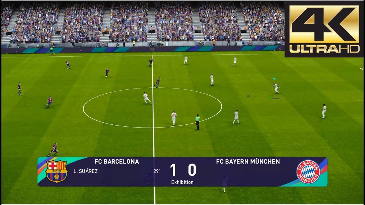 Pes 2021 4k 60 Fps Barcelona Vs Bayern Munich Youtube