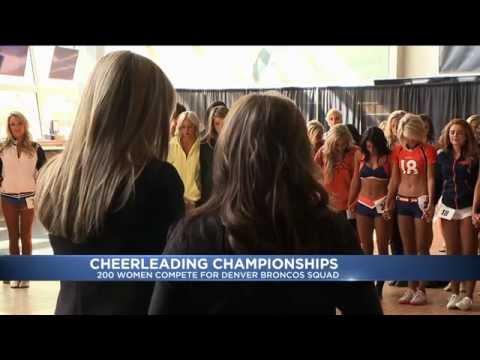 Bronco Cheerleader Tryouts 2015