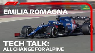 A Closer Look At Alpine's Advancements | F1 TV Tech Talk | 2021 Emilia Romagna Grand Prix