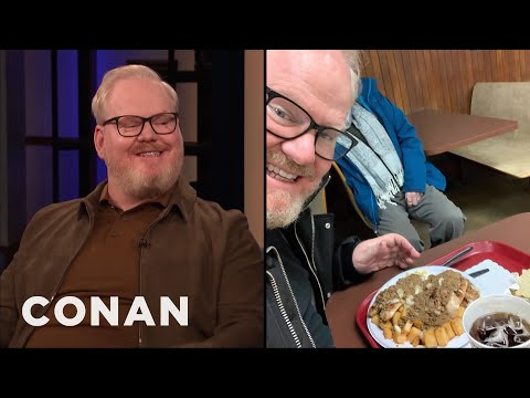 """Jim Gaffigan Tried Rochester's Infamous """"Garbage Plate"""" - CONAN on TBS"""