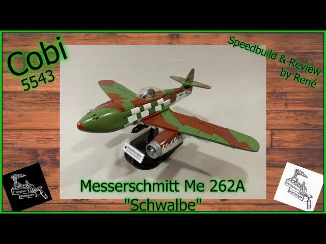Das erste Strahltriebwerk Flugzeug | Cobi 5543 | Messerschmitt Me262A | Speedbuild – Review