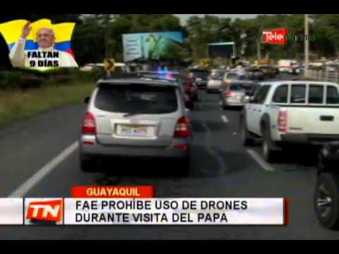 FAE prohíbe uso de drones durante visita del Papa