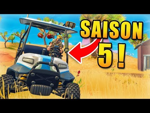 FORTNITE SAISON 5 : NOUVELLE MAP & VÉHICULE !