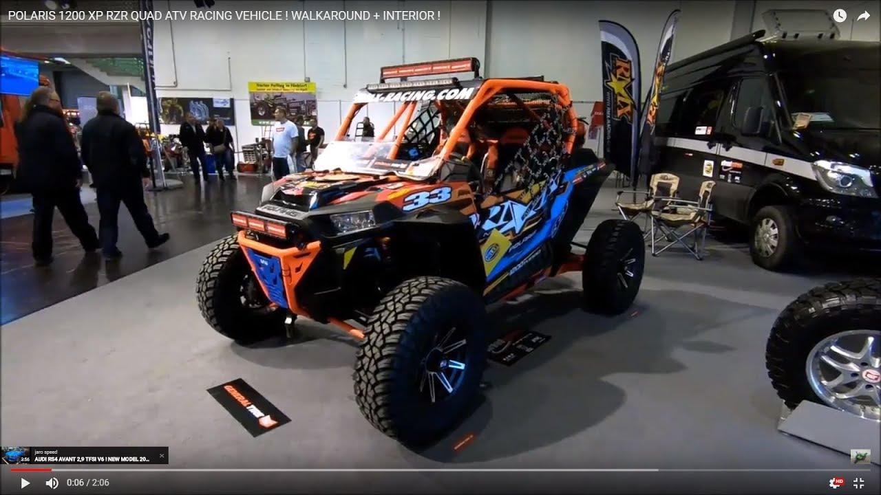 Polaris 1200 Xp Rzr Quad Atv Racing Vehicle Walkaround Interior