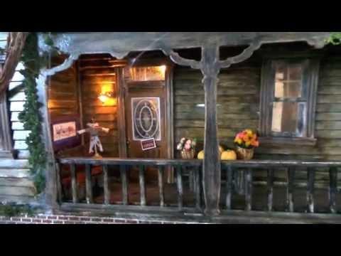 Tour of Abandoned Spooky Miniature Dollhouse