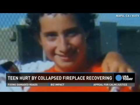 Napa teen crushed by fireplace recovering after quake