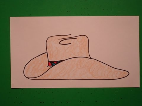 lets draw a cowboy hat youtube