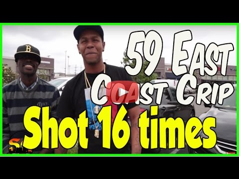 Shot 16 times in 4 gang-related shootings in South LA, 59 East Coast Crips
