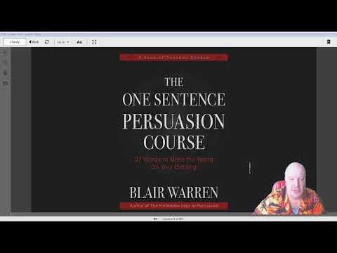 📚 Blair Warren.The One Sentence Persuasion Course - 27 Words to Make the World Do Your Bidding 📚
