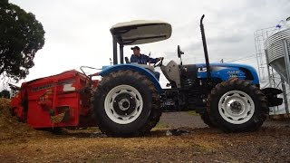 LS Tractor Plus 80 + Vagão Forrageiro Ipacol