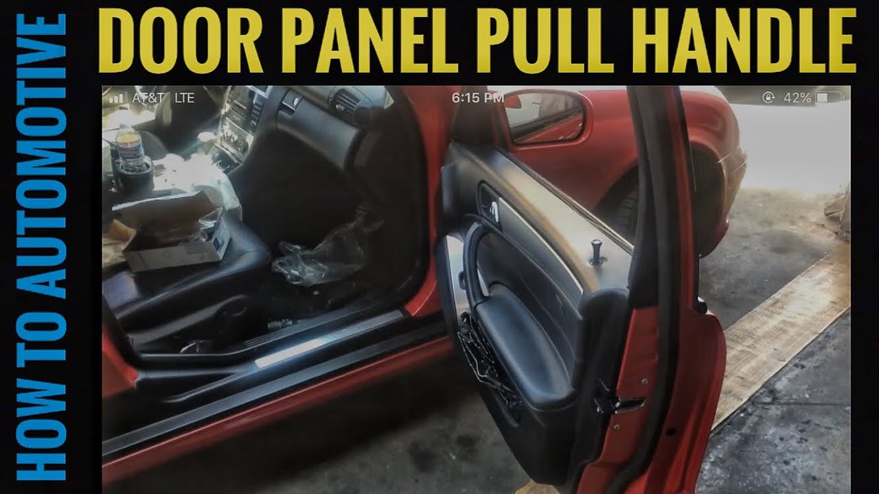 How to Replace Door Panel Pull handle on a 2000-2007 Mercedes C230 ...