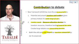 The objective of general purpose financial reporting 2010 - Conceptual Framework