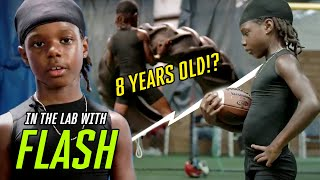 Hes 8 Years Old With An EIGHT PACK Young Phenom Flash Goes Through INSANE Workout
