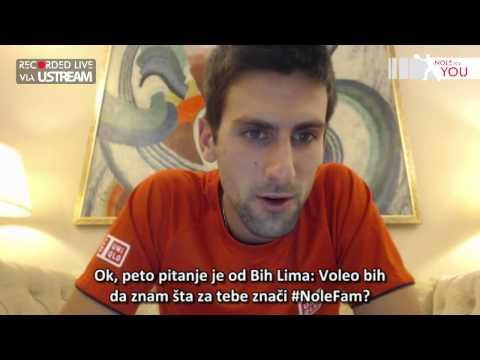 No 10 LIVE video reply by Novak Djokovic #NoleForYou