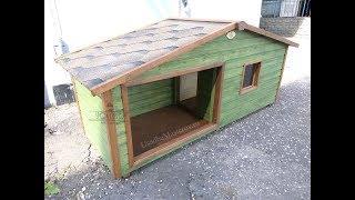 Утепленная будка для собаки с тамбуром