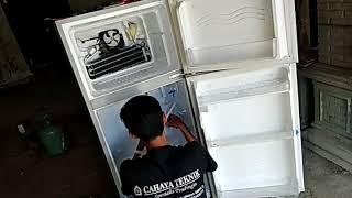 Inilah cara mudah memperbaiki sendiri kulkas 2 pintu bagian atas dan bawah tidak dingin