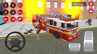 Real Fire Fighter Truck Driving   Crazy Fire Fighter Truck Driving Simulator   Android IOS Gameplay screenshot 5