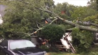 Hurricane Florence winds cause tree to fall on Ebenezer Avenue house in Rock Hill, SC