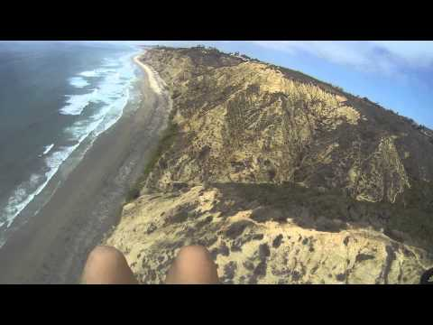 Paragliding at Torrey Pines Gliderport, May, 2014