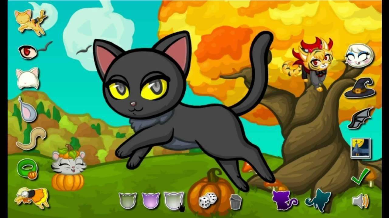 картинки кошек игру пауков