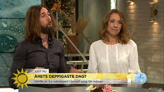 """Experternas tips mot depp: """"Gå hem och ligg med någon du gillar"""" - Nyhetsmorgon (TV4)"""