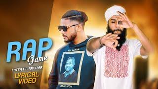 Rap Game | Fateh Ft. Raftaar | new rap song | Raftaar music serie