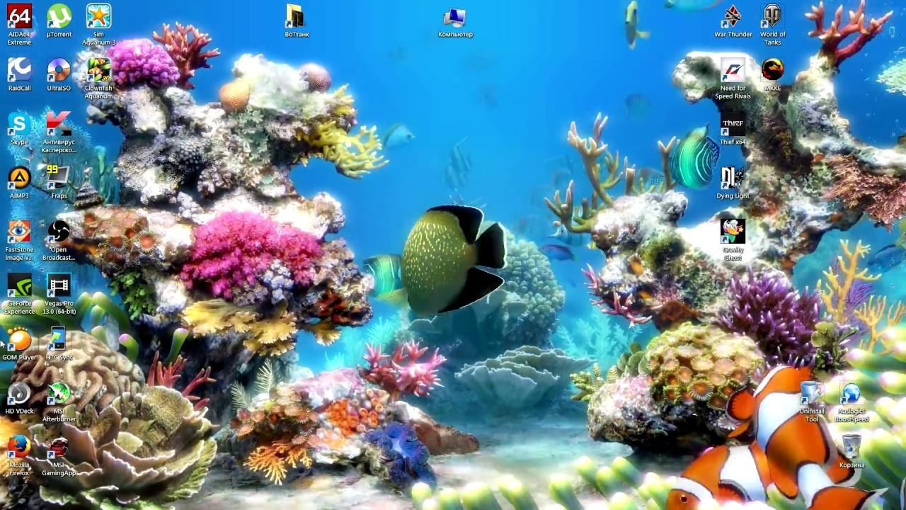 Прикольный аквариум на рабочий стол YouTube