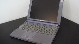 Vaio PCG 505e small netbook (trash find)