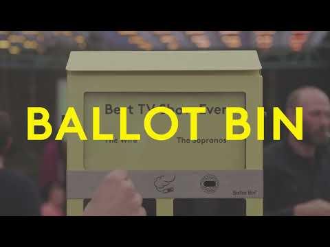 Ballot Bin Voting Ashtray I Hubbub Campaigns