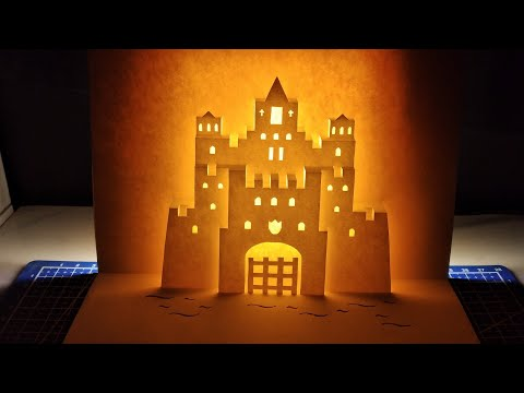 3d Castle/ Castle pop up card/Kirigami / Paper art and craft.