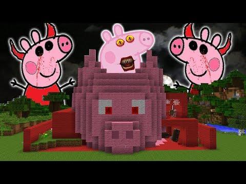A CASA DO ROBIN HOOD SE TRANSFORMOU NA PEPPA PIG.EXE DO MINECRAFT!!