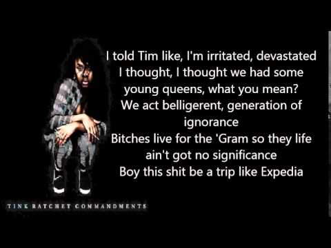 Tink - Racket Commandment Dirty Version With Lyrics.(High Quality)