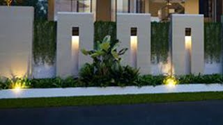 Simple And Modern Boundary Wall Design Ideas | Boundary Wall Or Compound Wall Designs