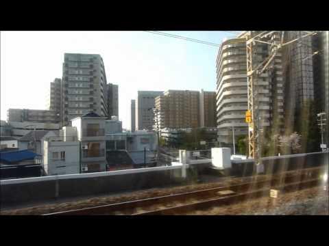 [HD] HARUKA#05, from Kyoto to Kansai-Airport / はるか5号 京都→関空 左側車窓
