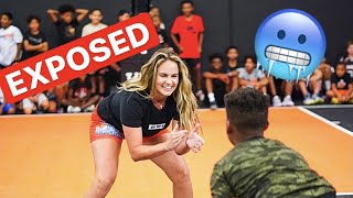 I GOT EXPOSED BY KIDS at Basketball Camp!!